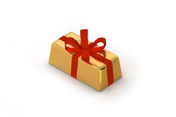 Goldbarren als Geschenk