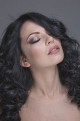 Beautiful makeup for brunettes advertising