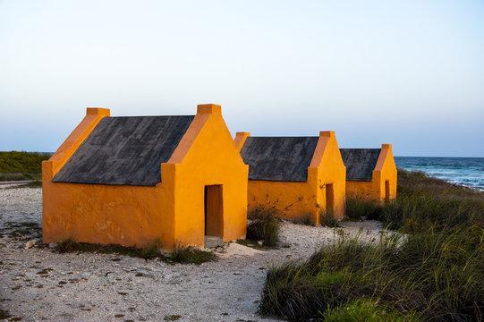 Slave huts in Bonaire, ABC Islands, Netherlands Antilles