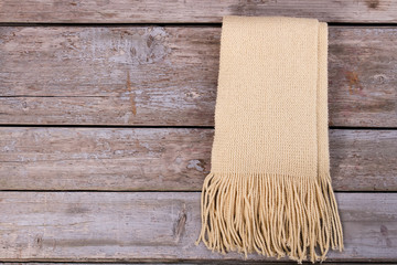 Warm mohair scarf with fringe.