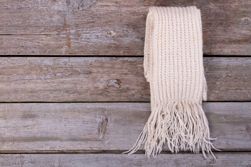 Beautiful white knitted scarf.