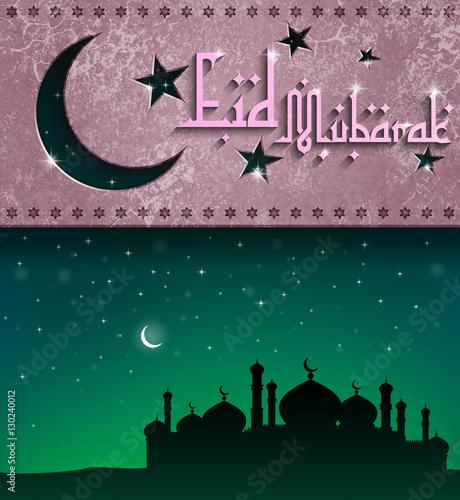Muslim vector design eid mubarak greeting card template with arabic muslim vector design eid mubarak greeting card template with arabic pattern blessed islamic festival m4hsunfo