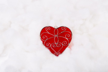 Valentine's Day heart shape on white background