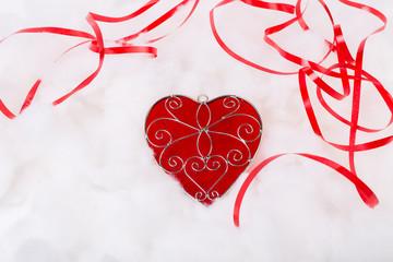 Valentine's Day heart shape on white background