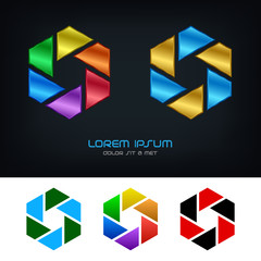 Startup business vector logo design template