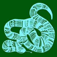 snake, vector, animal, reptile, illustration, wild, danger