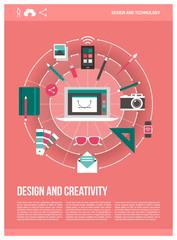 Design and creativity poster
