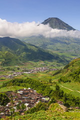 View over the Dieng Plateau, Java, Indonesia, Southeast Asia, Asia