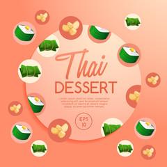 Thai Dessert : Vector Illustration