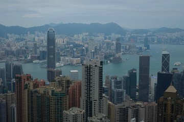 Cityscape and Hong Kong Harbour