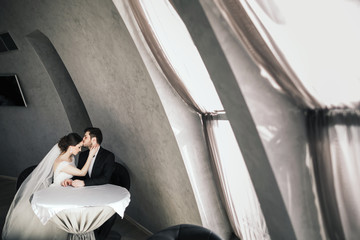 Sensitive wedding photo