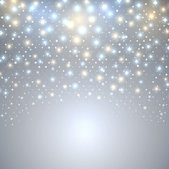 Abstract Christmas starfall vector background with copy space.