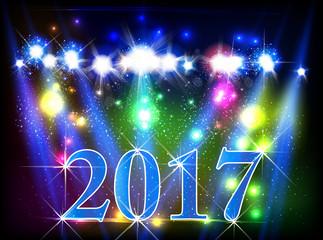 Happy New Year 2017 easy all editable