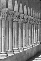 Segovia - The romanesque portico of church Iglesia de San Martin.