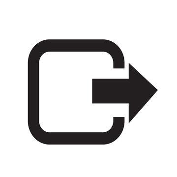 Logout exit icon illustration design