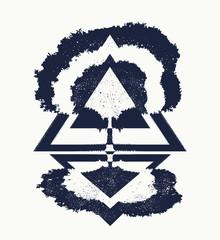 Tree of Life tattoo art, symbol of life and death.