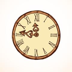 Clock. Vector drawing