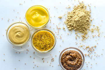 Different kinds of mustard