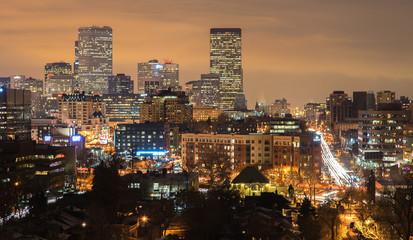 Denver Skyline Long Exposure