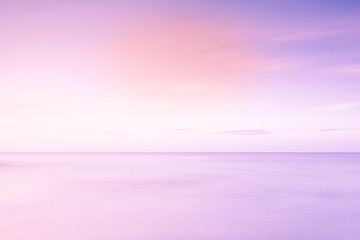calmness in pink and blue at ocean