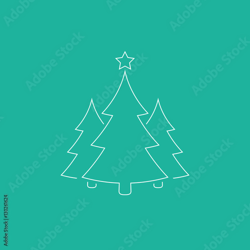 simple christmas tree outline