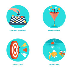 Vector icons for Internet Marketing.