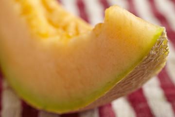 wedges of fresh cantaloupe