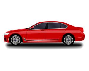 realistic car. sedan