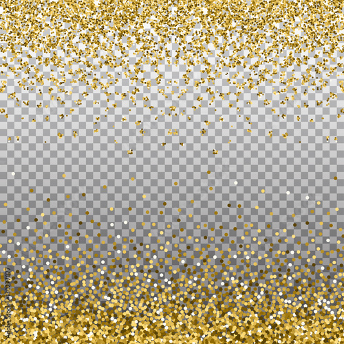Gold glitter background golden sparkles on border template for gold glitter background golden sparkles on border template for holiday designs invitation stopboris
