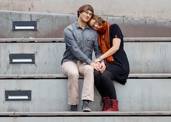 Liebe auf der Treppe