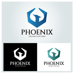 Phoenix logo design template ,Vector illustration