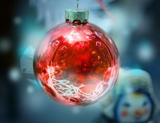 Photo Christmas red ball