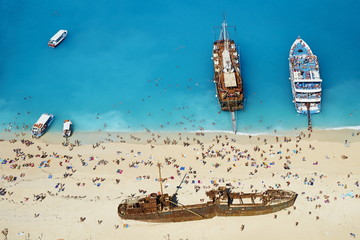 Shipwreck beach, Zante island, Ionian Islands, Greek Islands, Greece, Europe