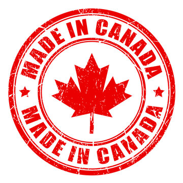Made in Canada rubber stamp