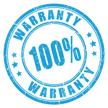 Warranty rubber vector stamp