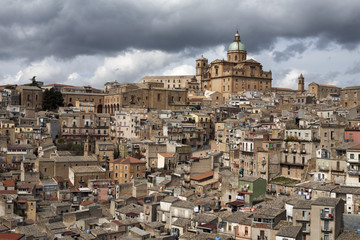 View over the old town, Piazza Armerina, Sicily, Italy, Europe