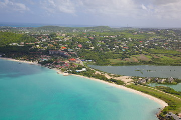 View of Dickinson Bay and Beach, Antigua, Leeward Islands, West Indies, Caribbean, Central America