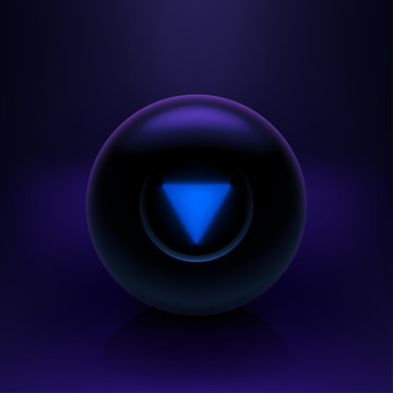 magic ball on dark