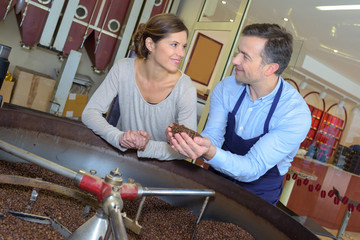 transforming of coffee beans