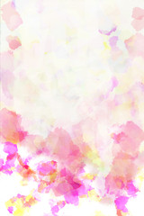 Abstract colored paper. Colored paint stains white background.