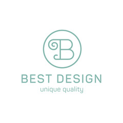 Design logo letter b in the flat steel quality and trend