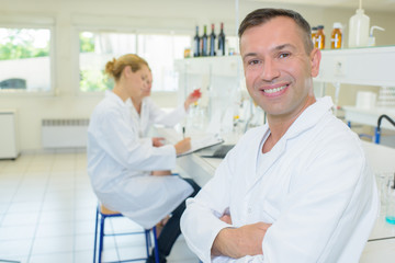 Portrait of male laboratory technician