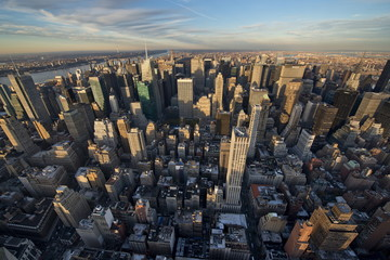 View from Empire State Building, Manhattan, New York City, United States of America, North America