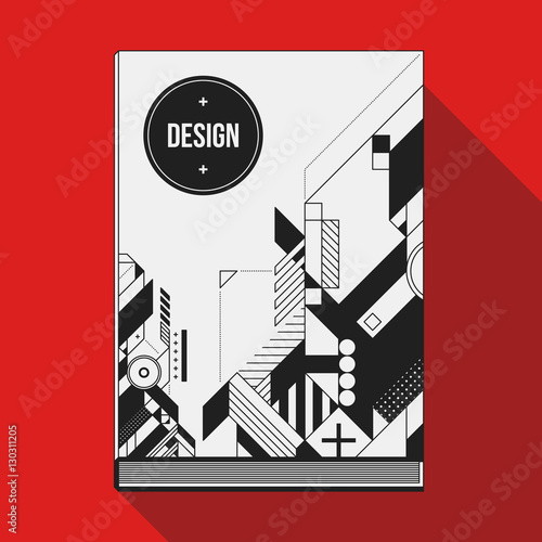 Book Cover Design Elements : Quot book cover design template with abstract geometric
