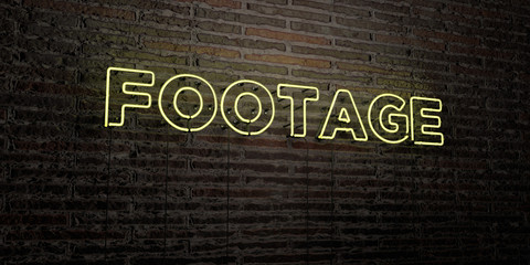 FOOTAGE -Realistic Neon Sign on Brick Wall background - 3D rendered royalty free stock image. Can be used for online banner ads and direct mailers..