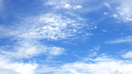 blue sky and clouds sky.