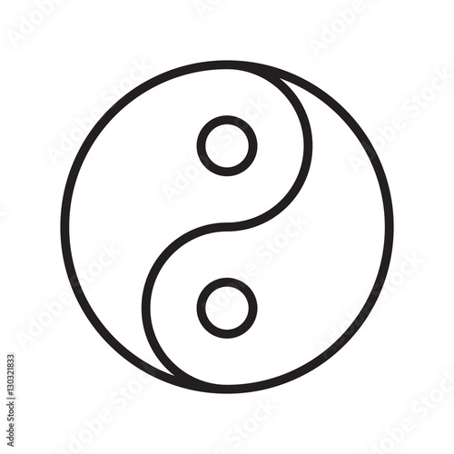 yin yang symbol outline transparent vector stock image and royalty