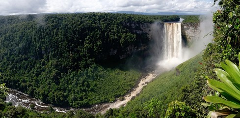 Panoramic view of Kaieteur Falls, Guyana, South America
