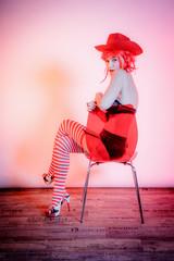 La Mère Noël et la chaise rouge