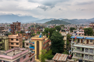 Top view of Kathmandu, Nepal